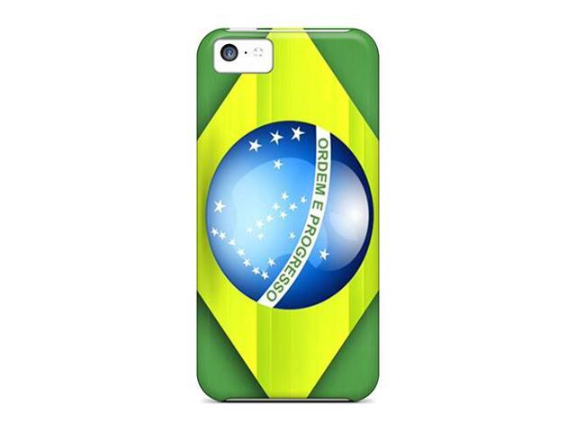 Shock-dirt Proof Brazil Flag Case Cover For Iphone 5c