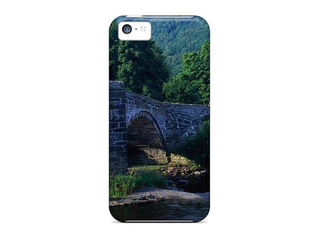 High Impact Dirt/shock Proof Case Cover For Iphone 5c (welsh Bridge)