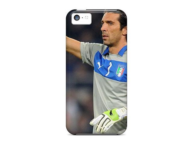 High Impact Dirt/shock Proof Case Cover For Iphone 5c (the Player Of Juventus Gianluigi Buffon Showing The Tactics Of The Game)