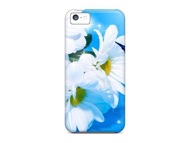 High Impact Dirt/shock Proof Case Cover For Iphone 5c (daisy Blue)
