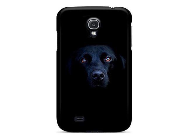 [rVV4424knyX] - New Black Labrador Dog Protective Galaxy S4 Classic Hardshell Case