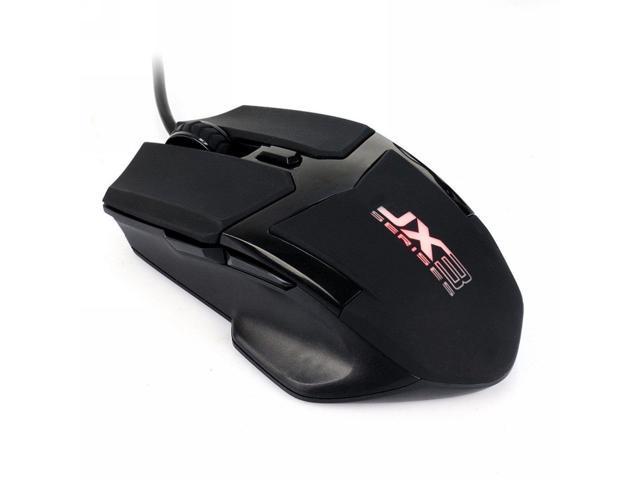 Qisan Black 2800 DPI 6 Button LED Gaming Mouse - JX3
