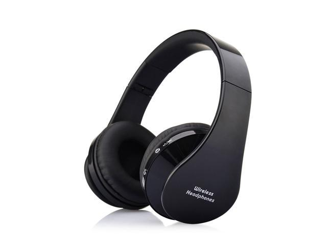 Foldable Wireless Stereo Bluetooth Headphone Earphone For iPhone Laptop Mobile@black
