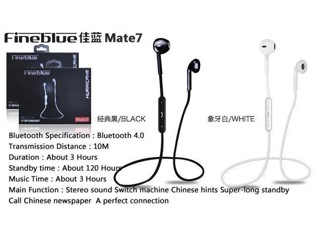 Enet Sport Wireless Bluetooth V4.0 headphone Earphone @black