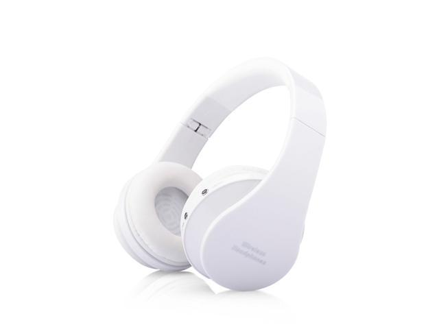 Foldable Wireless Stereo Bluetooth Headphone Earphone For iPhone Laptop Mobile@white
