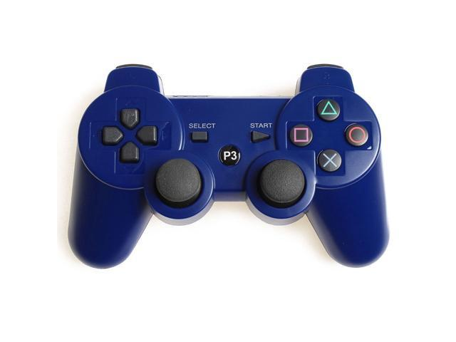 Blue Wireless Bluetooth Double Vibration Game Gaming Controller For Sony PS3