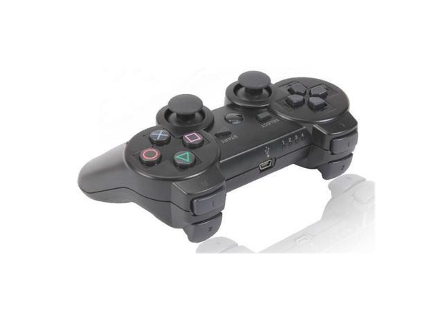 Black Wireless Bluetooth Double Vibration Game Gaming Controller For Sony PS3
