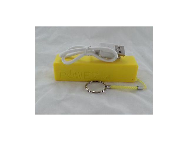 2600mAh Power Bank External Battery USB Charger For Mobile Phone iPhone Samsung/yellow