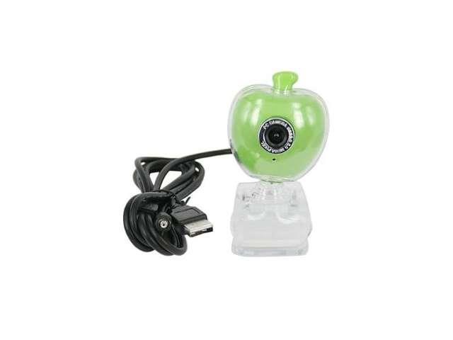 5.0M Pixel Green Apple USB PC Web Webcam w/ Mic & Clip