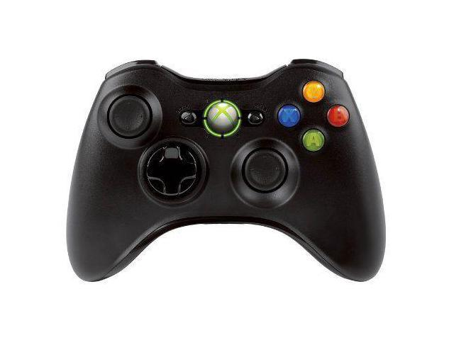 X360 WIRELESS CONTROLLERS-XBOX360 WIRELESS CONTROLLER BLACK (NEW) X36 NEW