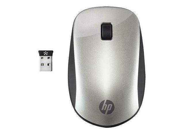 HP Z4000 Wireless Optical Thin Mouse W/ USB Nano Receiver For PC Silver