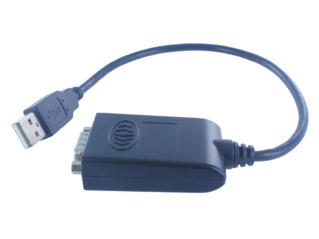 PREMIUM 1ft USB 2.0 to Serial RS-232 DB9 Male Adapter Cable Support WIN 8(C-527)