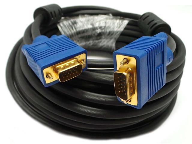 50 feet SVGA Super VGA HD15 M/M Gold Plated Cable Adaptor Monitor Projector New