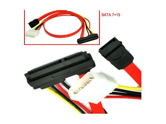 SATA 7+15Pin Serial Ata Combo Power Cable For Hard Drive Interconnect HDD Data and Power use