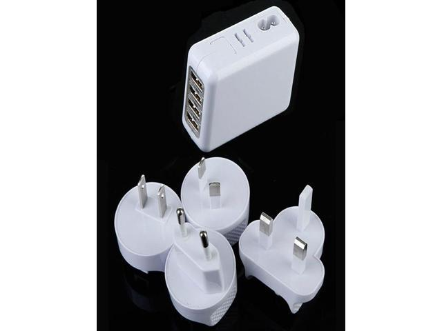 4-in-1 Multifunctional 2.1A 4-USB LED Travel Charger Adapter( EU/US/UK/AU Standard )