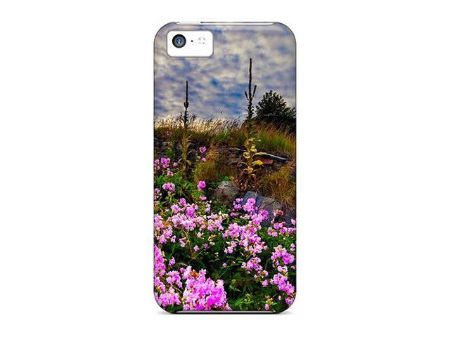 High Impact Dirt/shock Proof Case Cover For Iphone 5c (meadow Flowers)