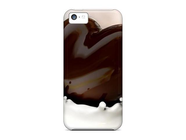 Shock-dirt Proof Chocolate Milk Heart Case Cover For Iphone 5c