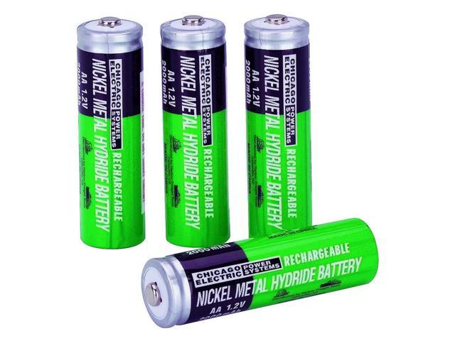 4 Piece AA NiMH Rechargeable Batteries