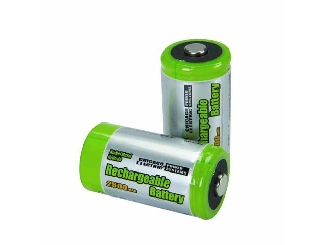 2 Piece C High Capacity NiMH Rechargeable Batteries