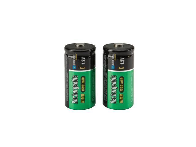 2 Piece C NiMH Rechargeable Batteries