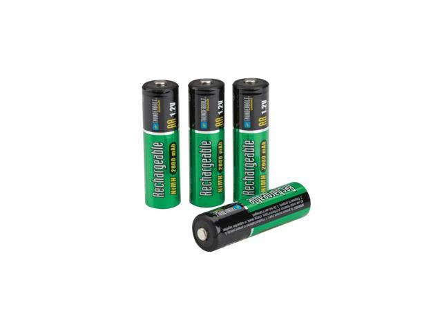 4 Piece AA NiMH Rechargeable Batteries from TNM