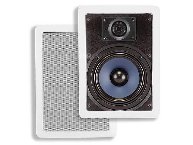 6-1/2 Inches Polypropylene 2-Way In-Wall Speakers (Pair) - 40W Nominal, 80W Max.