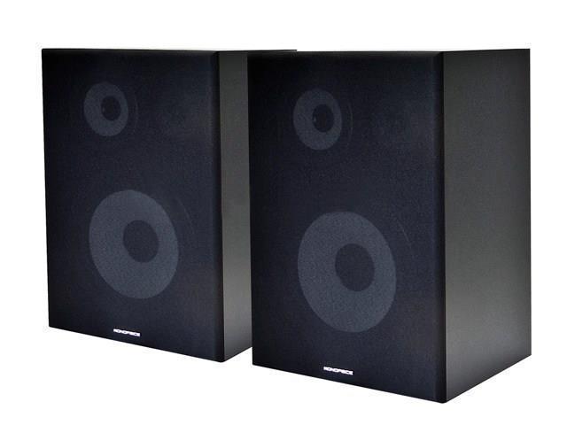 8 Inches 3-Way Bookshelf Speakers (Pair) - Black