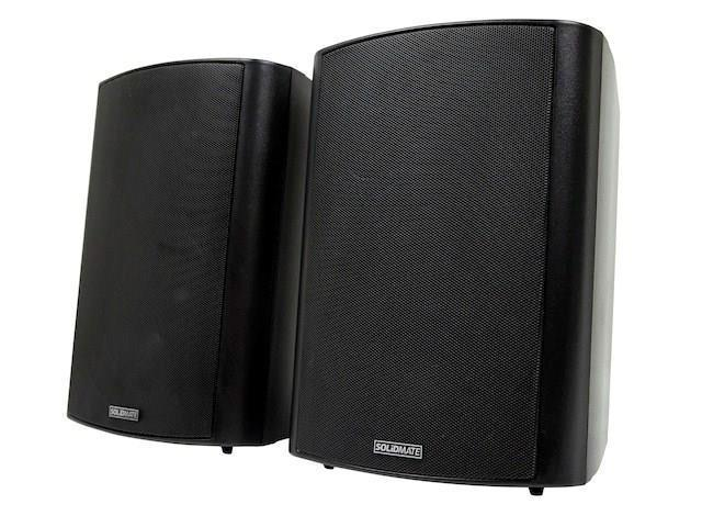 2-Way Active Wall Mount Speakers (Pair) - 25W - Black Product No: 500253