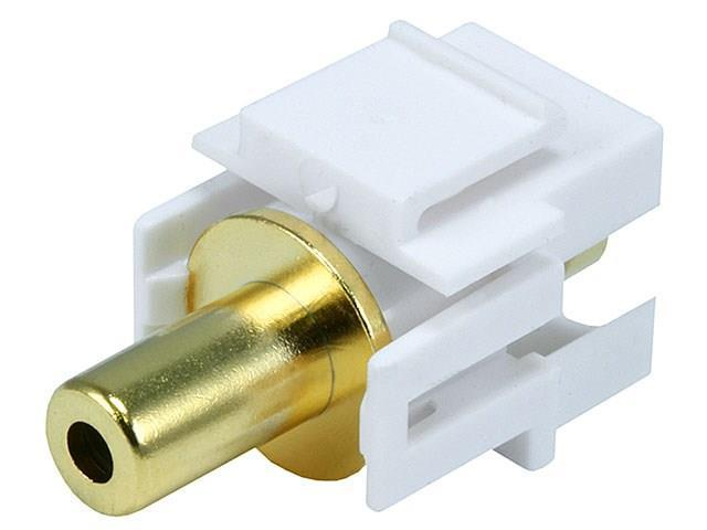 Keystone Jack - 3.5mm Stereo, Flush Type (White)