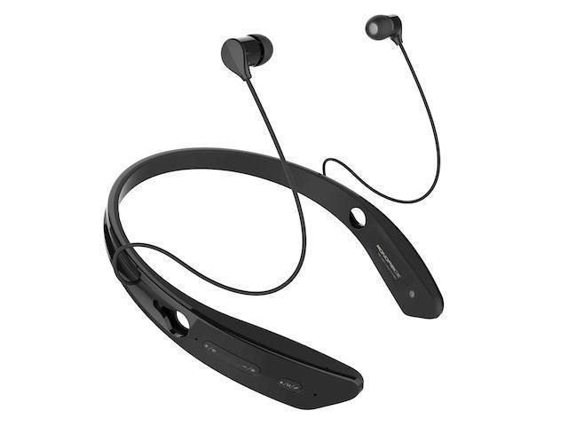 Bluetooth® In-Ear Headphones with aptX® NFC and Built-in Microphone- Black USAHC