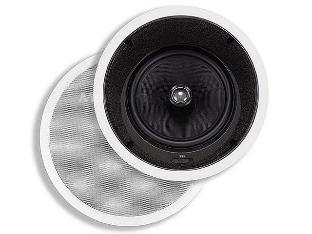 8 Inches Kevlar In-Ceiling Speakers (Pair) - w/ 15 Degree Angled Woofer USAHC