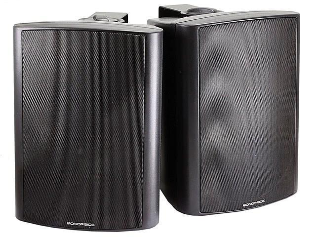 2-Way Active Wall Mount Speakers (Pair) - 25W - Black USAHC