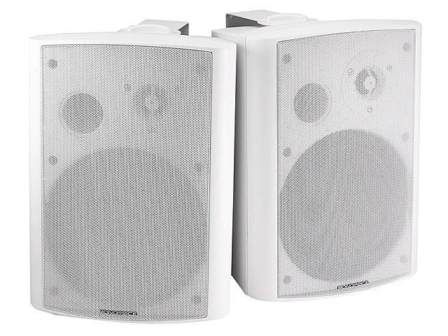 2-Way Active Wall Mount Speakers (Pair) - 25W - White USAHC