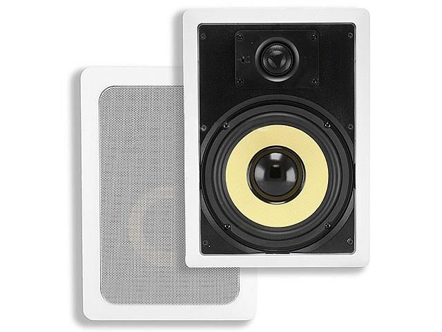 8-inch Kevlar 2-Way In-Wall Speakers (Pair) - 80W Nominal, 120W Max USAHC