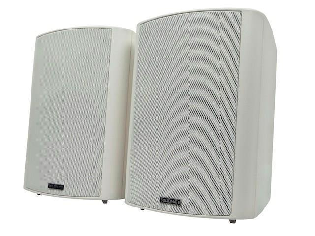 2-Way Active Wall Mount Speakers (Pair) - 25W - White MNP