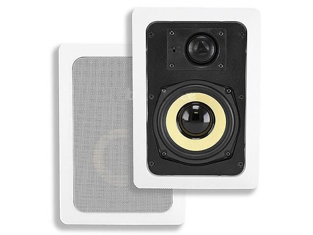 Mono 5-1/4 Inches Kevlar 2-Way In-Wall Speakers (Pair) - 50W Nominal, 100W Max