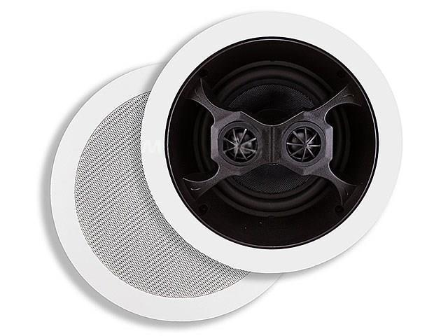 Mono 6-1/2 Inches Glass Composite 3-Way, Dual Voice Coil, Stereo In-Ceiling Speaker (Pair) - 40W Nominal, 100w Max