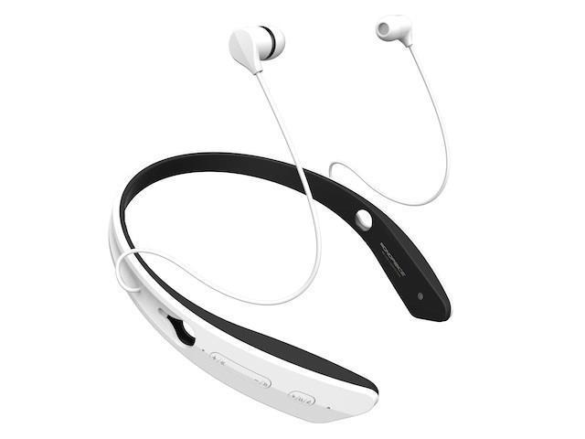 Mono Bluetooth® In-Ear Headphones with aptX® NFC and Built-in Microphone- White