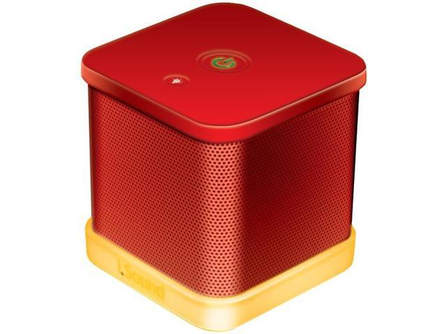 iGlowSound Cube Wired Portable Speaker (Red) By: ISOUND