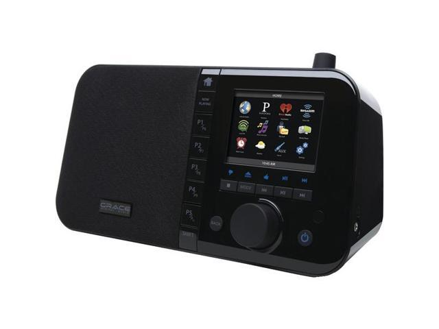 """Wi-Fi Internet Radio with 3.5"""" TFT Color Screen (Black) By: GRACE DIGITAL AUDIO"""