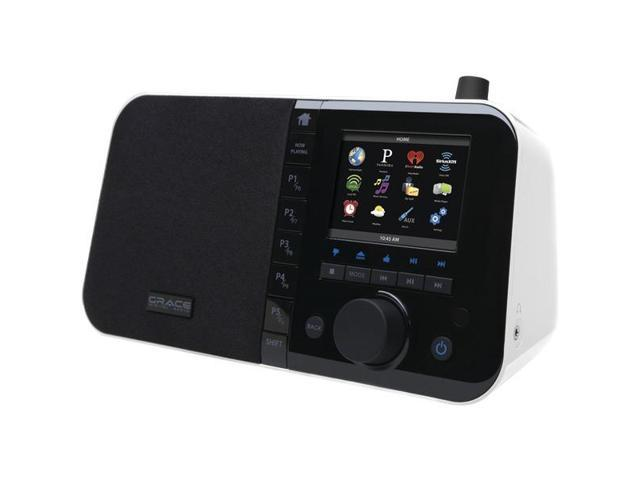 """Wi-Fi Internet Radio with 3.5"""" TFT Color Screen (White) By: GRACE DIGITAL AUDIO"""