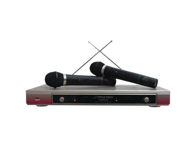 Dual VHF Wireless Microphone System By: PYLE PRO