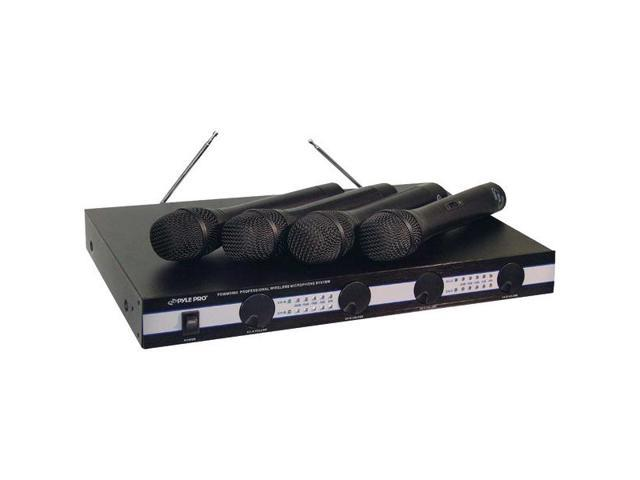 4-Microphone VHF Wireless Microphone System By: PYLE PRO