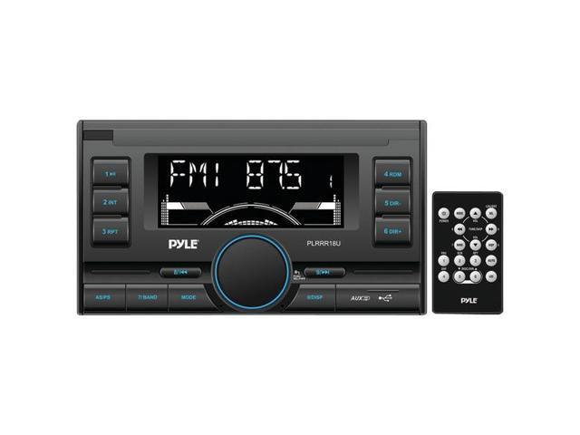 Double-DIN In-Dash Mechless Digital Receiver with USB/SD(TM) Memory Card Readers, AM/FM Radio, Aux Input & Remote Control By: PYLE