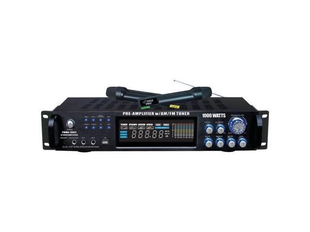 1,000-Watt Hybrid Preamp & Wireless Microphone System By: PYLE PRO