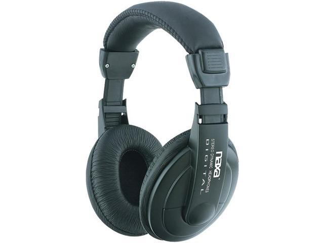 Super Bass Professional Digital Stereo Headphones with Volume Control By: NAXA