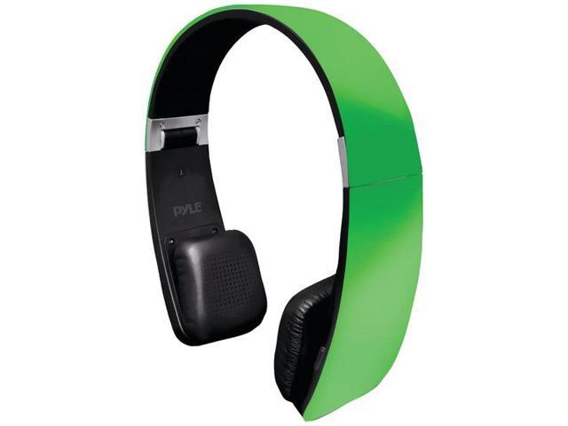 Sound 6 Bluetooth(R) 2-in-1 Stereo Headphones with Microphone (Green) By: PYLE