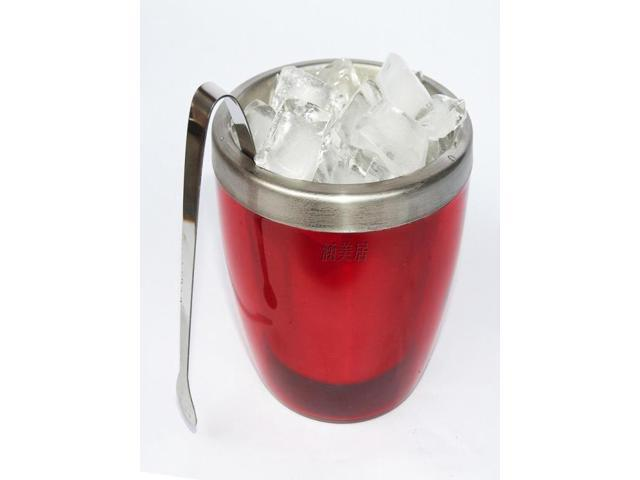 stainless steel red small wine bucket beer cooler 1L