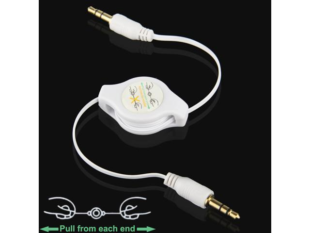 Gold Plated 3.5mm Jack AUX Retractable Cable for iPhone / iPod / MP3 Player / Mobile Phones / Other Devices with a Standard 3.5mm Headphone ...