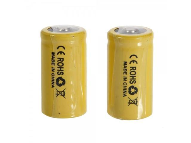 2pcs TangsFire 18350 3.7V 20C 1500mAh High-power Rechargeable Lithium Batteries Yellow